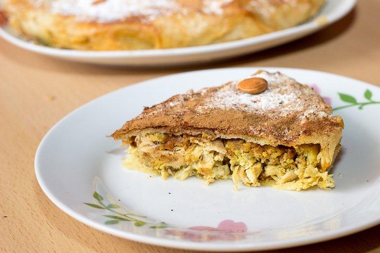 pastela de pollo marroqui