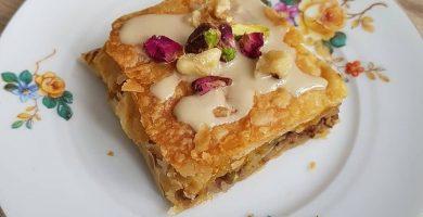 como hacer baklava de manzana
