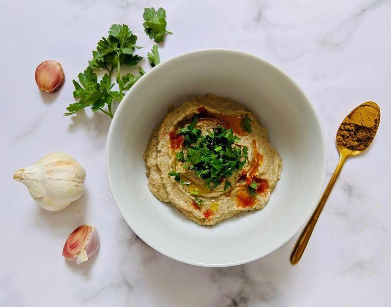 humus berenjena receta thermomix